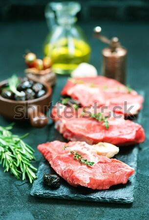 Ruw vlees aroma Spice zeezout kruis Stockfoto © tycoon