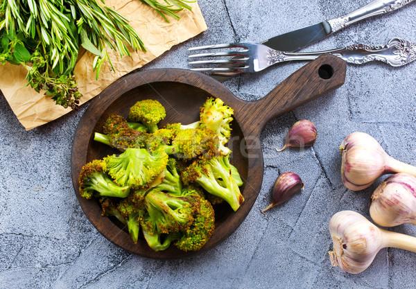 Brokkoli fűszer só stock fotó zöld Stock fotó © tycoon