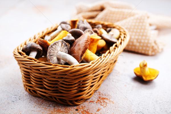 Champignons najaar ruw tabel voorraad foto Stockfoto © tycoon