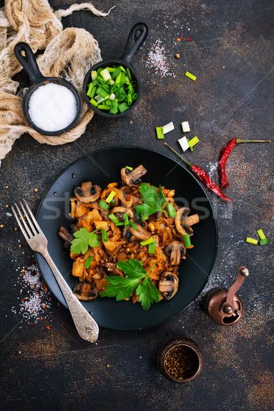 フライド キノコ キャベツ 完全菜食主義者の 皿 ストックフォト © tycoon