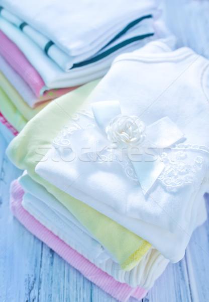 Photo stock: Bébé · vêtements · papier · fille · enfant · espace