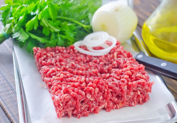 Vlees voedsel ei achtergrond keuken restaurant Stockfoto © tycoon