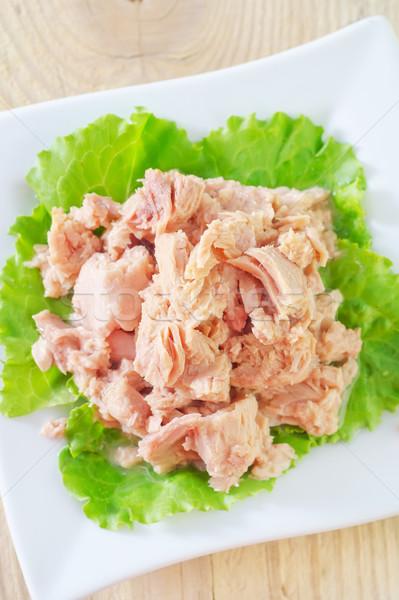 Salata gıda akşam yemeği yağ pişirmek Stok fotoğraf © tycoon