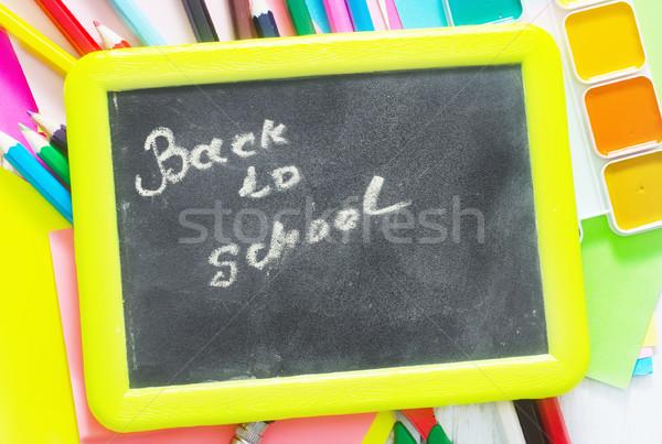 Material escolar escolas cor padrão nota escrever Foto stock © tycoon