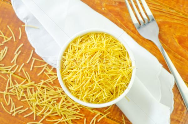 Makarna gıda sağlık mutfak pazar Stok fotoğraf © tycoon