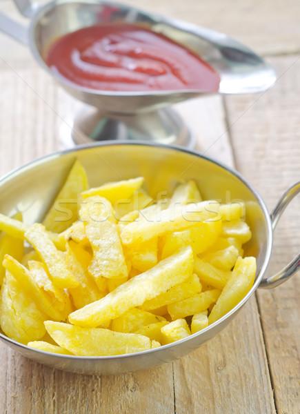 Batata molho de tomate comida fundo prato vida Foto stock © tycoon