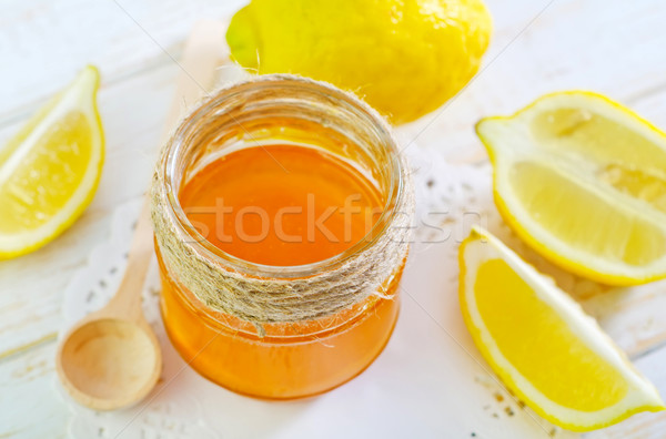 Miele limone alimentare legno natura colore Foto d'archivio © tycoon