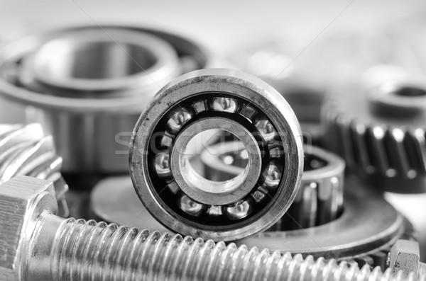 Zahnräder Arbeit Hintergrund Metall Gruppe Industrie Stock foto © tycoon