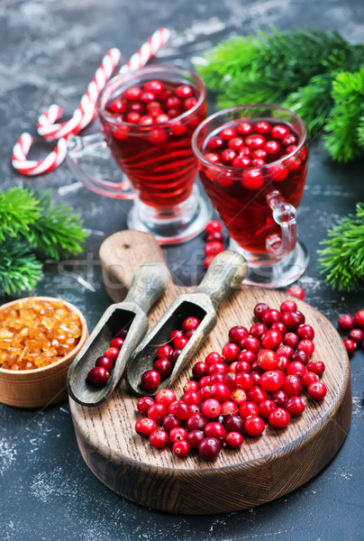 クランベリー ドリンク 液果類 クリスマス ガラス 表 ストックフォト © tycoon