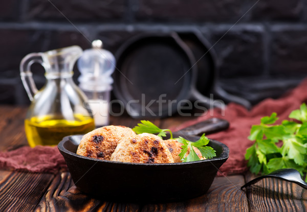 Stock photo: fried cutlets