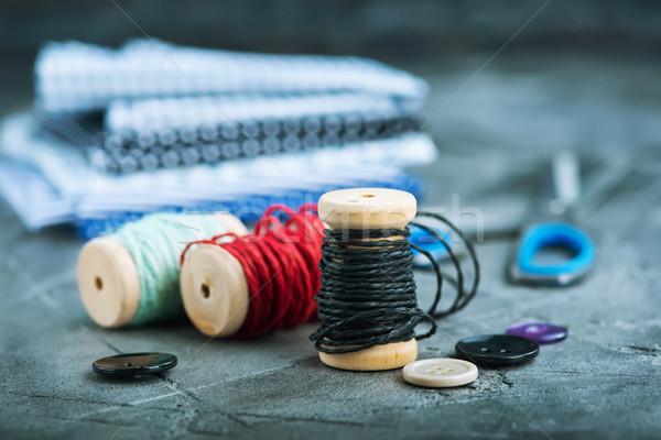 Kolor moda tabeli niebieski grupy tkaniny Zdjęcia stock © tycoon