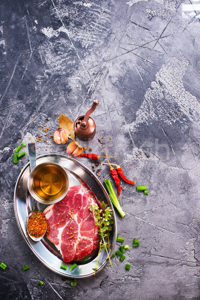 meat with spice Stock photo © tycoon