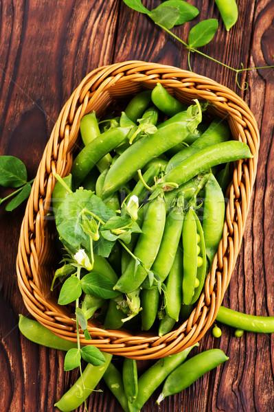 緑 エンドウ バスケット 表 健康 サラダ ストックフォト © tycoon