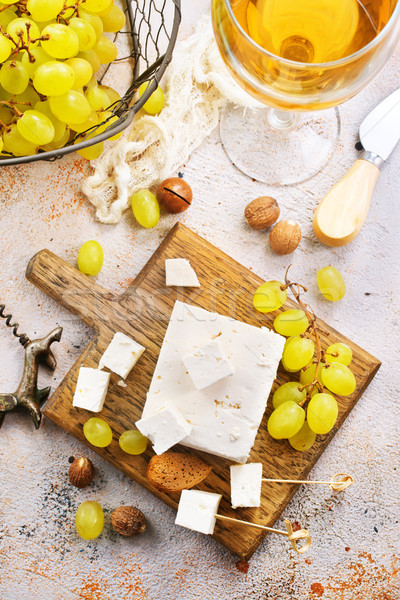 Vin fromages table stock photo verre Photo stock © tycoon