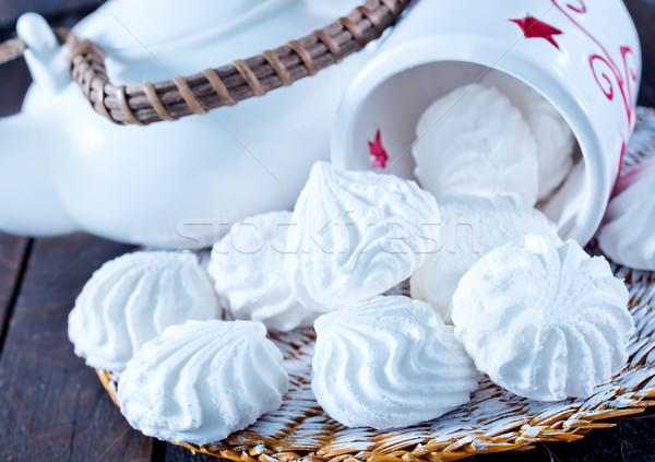 Puchar tabeli grupy spadek biały makro Zdjęcia stock © tycoon