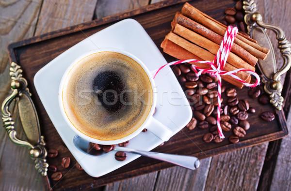 Stock fotó: Kávé · kávéscsésze · asztal · ital · sötét · csésze