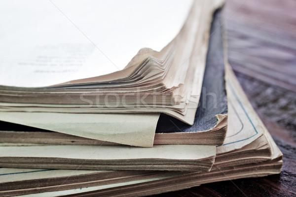 Kitaplar ev okul hukuk kütüphane bağbozumu Stok fotoğraf © tycoon