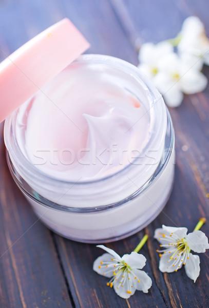 Krém arckrém víz test egészség üveg Stock fotó © tycoon