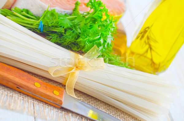 生 コメ 麺 鮭 背景 キッチン ストックフォト © tycoon