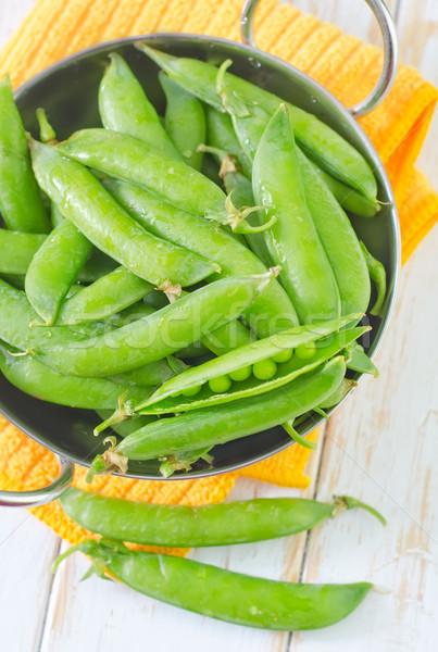 綠色 豌豆 質地 性質 白 美麗 商業照片 © tycoon