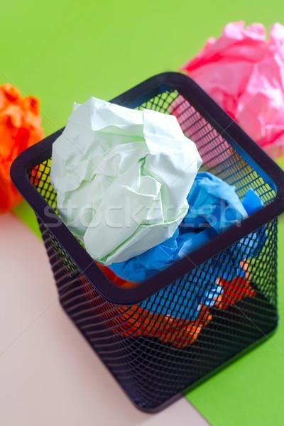 Szín papír iroda fém szoba labda Stock fotó © tycoon
