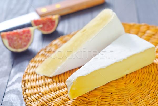 Camembert alimentare legno sfondo latte coltello Foto d'archivio © tycoon