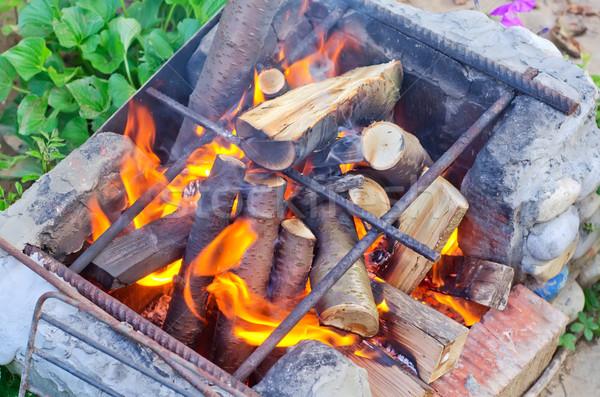 Kandalló szakács barbecue veszély BBQ pokol Stock fotó © tycoon