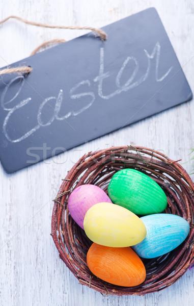 Dekorativ gemalt Ostereier Farbe Eier Ostern Stock foto © tycoon