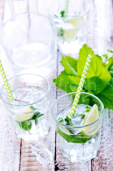 Mojito hideg üveg asztal víz étel Stock fotó © tycoon