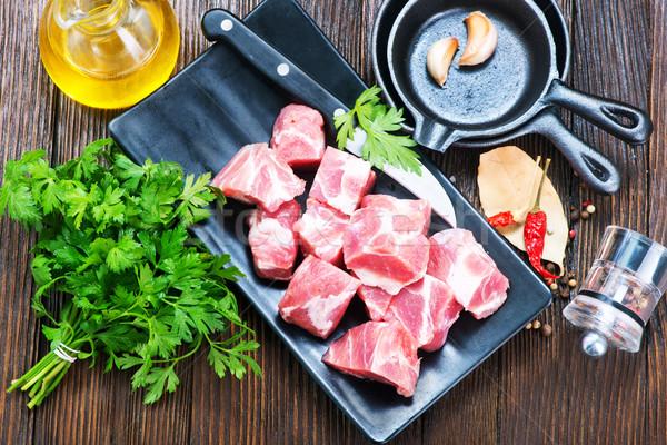 сырой мяса аромат Spice таблице продовольствие Сток-фото © tycoon