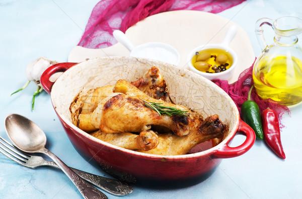 fried chicken legs Stock photo © tycoon
