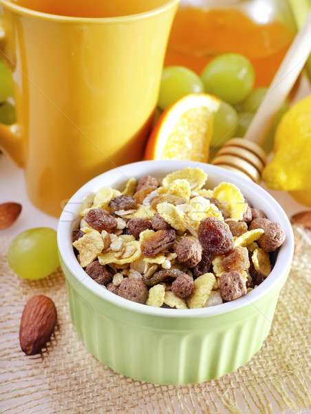Müsli vruchten groene mais energie ontbijt Stockfoto © tycoon