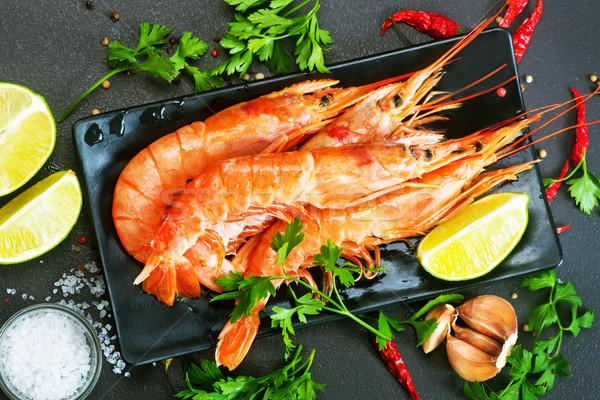 Bouilli sel épices table fête dîner Photo stock © tycoon