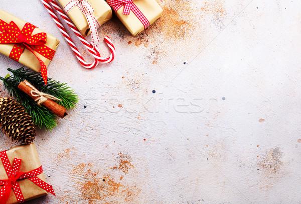 Natale presenta carta albero alimentare design Foto d'archivio © tycoon