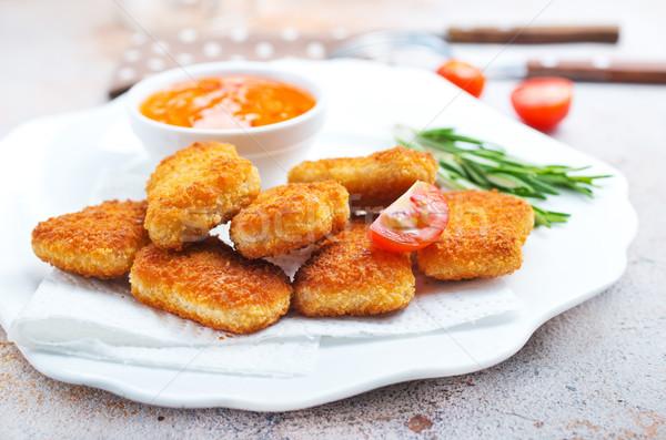Frango molho alimentos não saudáveis estoque foto comida Foto stock © tycoon