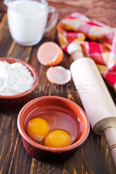 ingredients for dough Stock photo © tycoon
