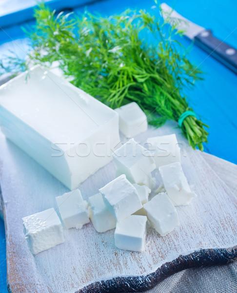 Stock photo: feta cheese