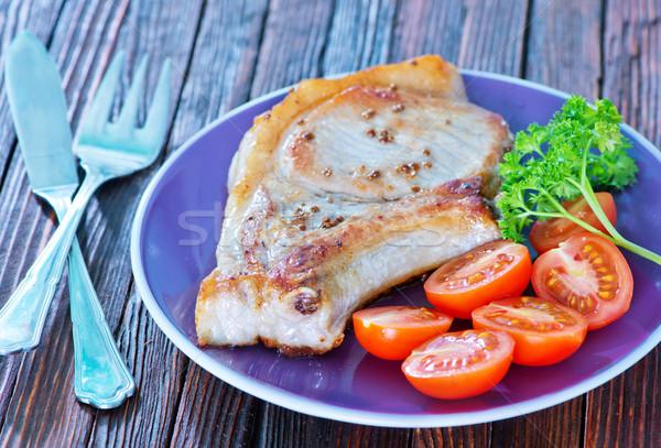 fried steak Stock photo © tycoon
