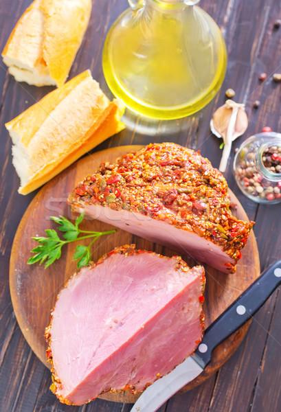 Fumé viande alimentaire cuisine dîner grasse Photo stock © tycoon