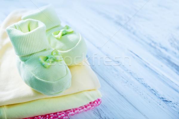 Photo stock: Bébé · vêtements · chaussures · jeunes · Homme · drap