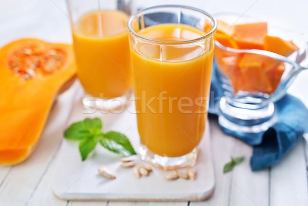 Pompoen sap blad groene drinken cocktail Stockfoto © tycoon