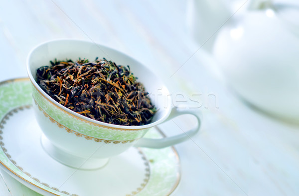 зеленый чай Кубок древесины зеленый медицина пить Сток-фото © tycoon