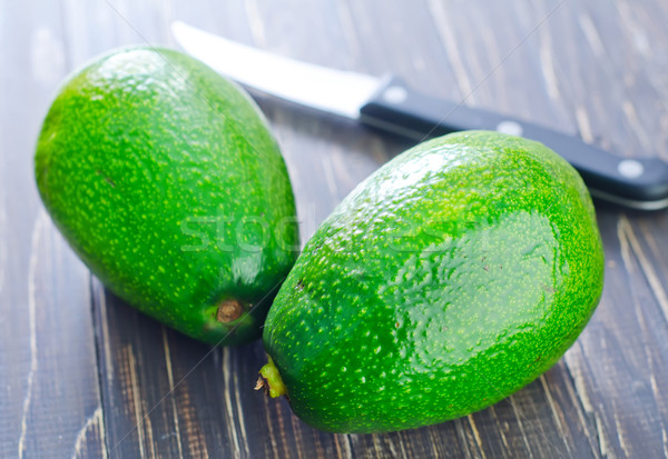 アボカド 庭園 ナイフ 色 熱帯 新鮮な ストックフォト © tycoon