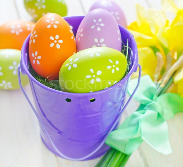 Ovos de páscoa páscoa textura primavera projeto ovo Foto stock © tycoon