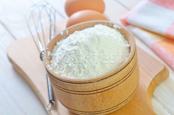 Mąka pszenicy kukurydza biały gotowania łyżka Zdjęcia stock © tycoon