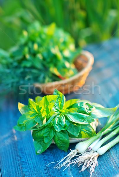 Aroma erbe basket tavola alimentare legno Foto d'archivio © tycoon