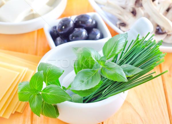 材料 ラザニア キッチン チーズ ボトル パスタ ストックフォト © tycoon