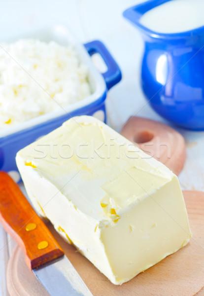 Tereyağı süt kulübe gıda yaprak cam Stok fotoğraf © tycoon