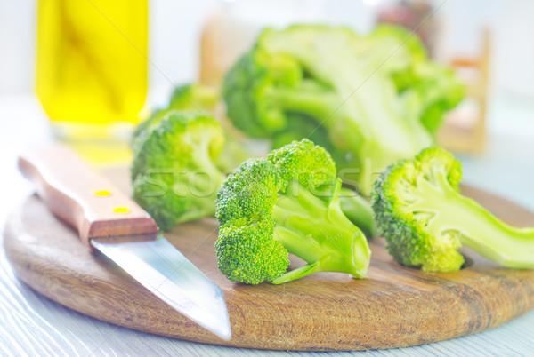Brokkoli természet nyár zöld kés fej Stock fotó © tycoon