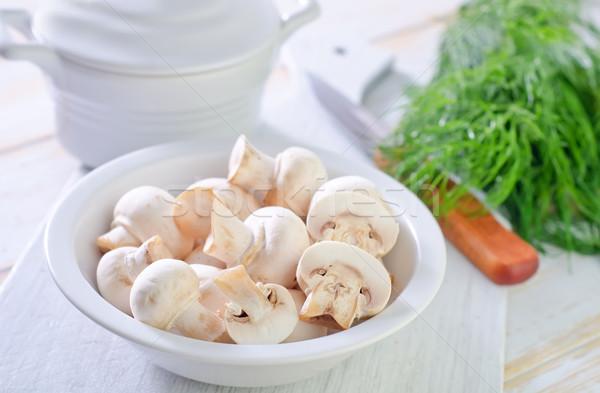 Champignons voedsel natuur gezondheid keuken diner Stockfoto © tycoon